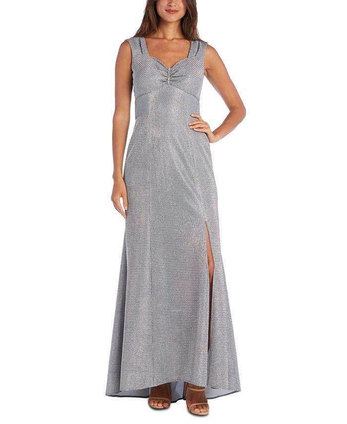 R & M Richards - Metallic Column Gown