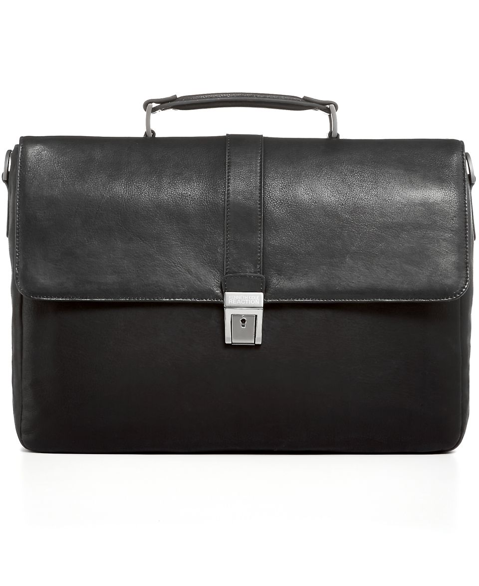 Kenneth Cole Reaction Leather Rio Double Gusset Briefcase   Business & Laptop Bags   luggage