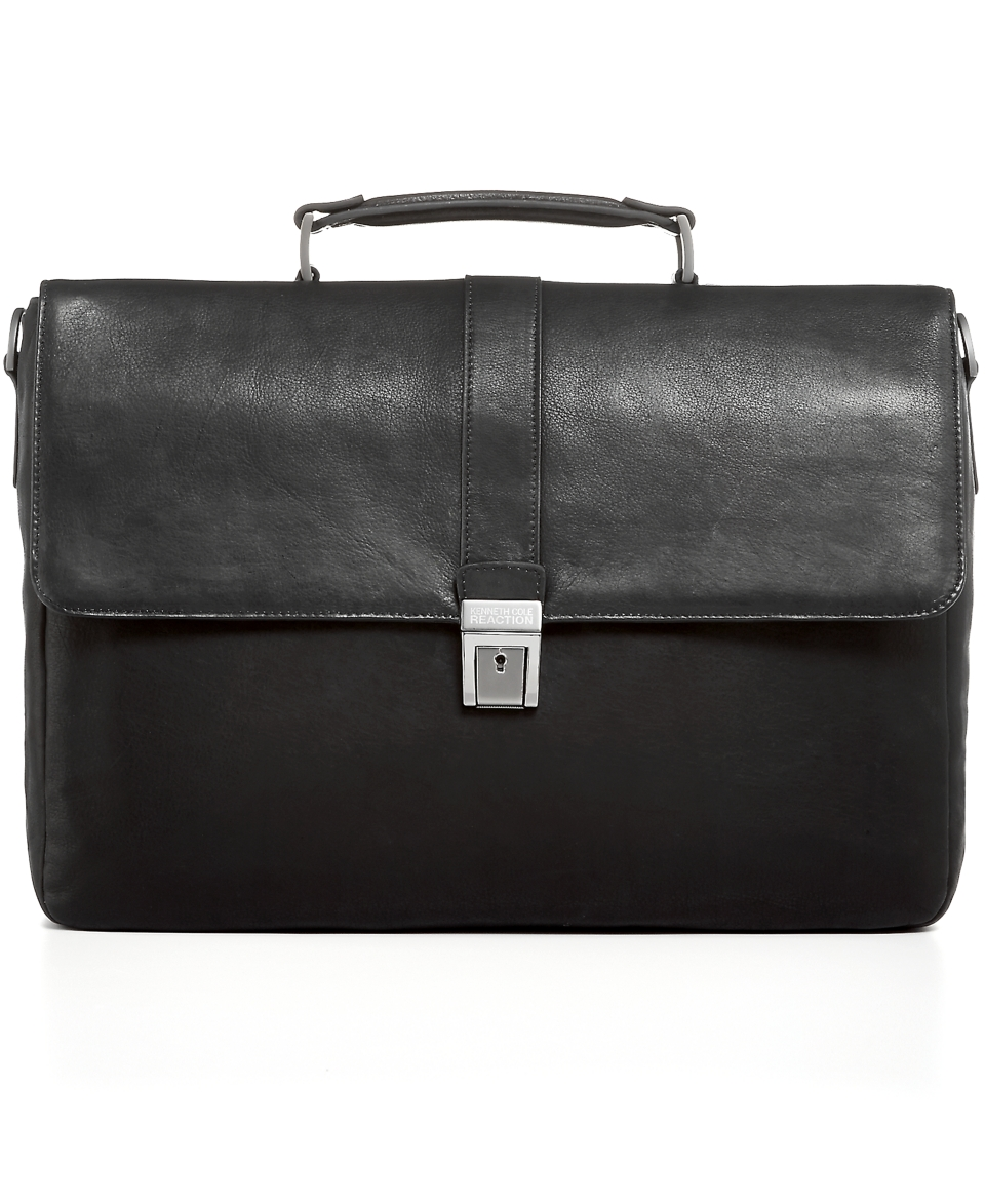 Kenneth Cole Reaction Leather 4 Colombian Single Gusset Briefcase   Business & Laptop Bags   luggage