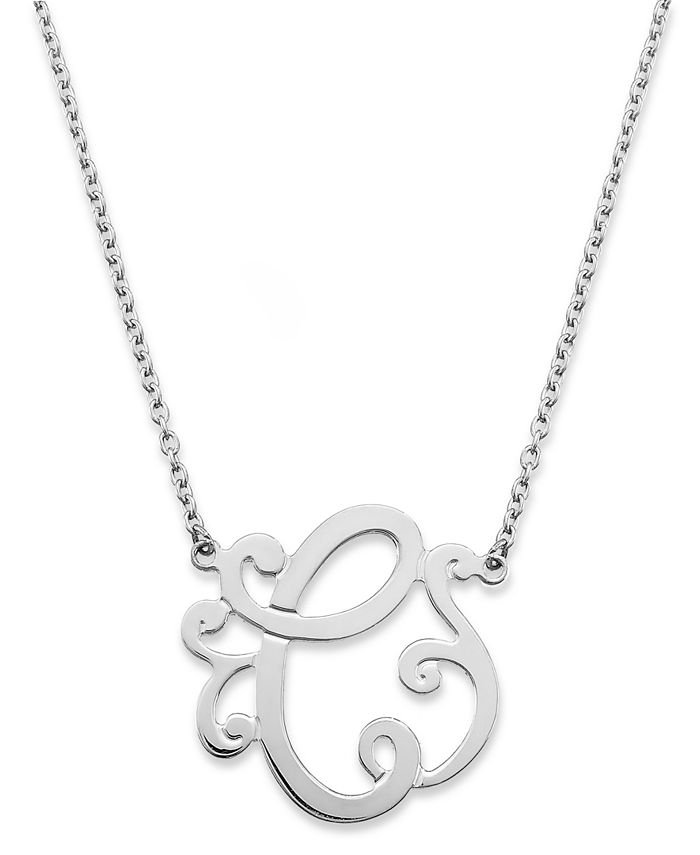 """Giani Bernini - Sterling Silver Necklace, """"C"""" Initial Pendant Necklace"""