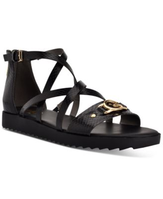guess black flat sandals