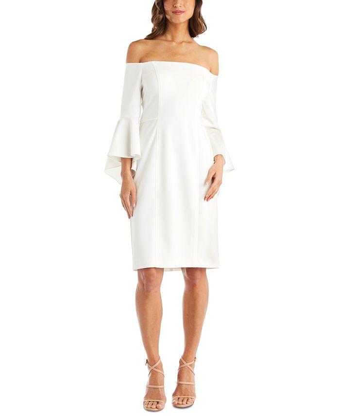 R & M Richards - Off-The-Shoulder Sheath Dress