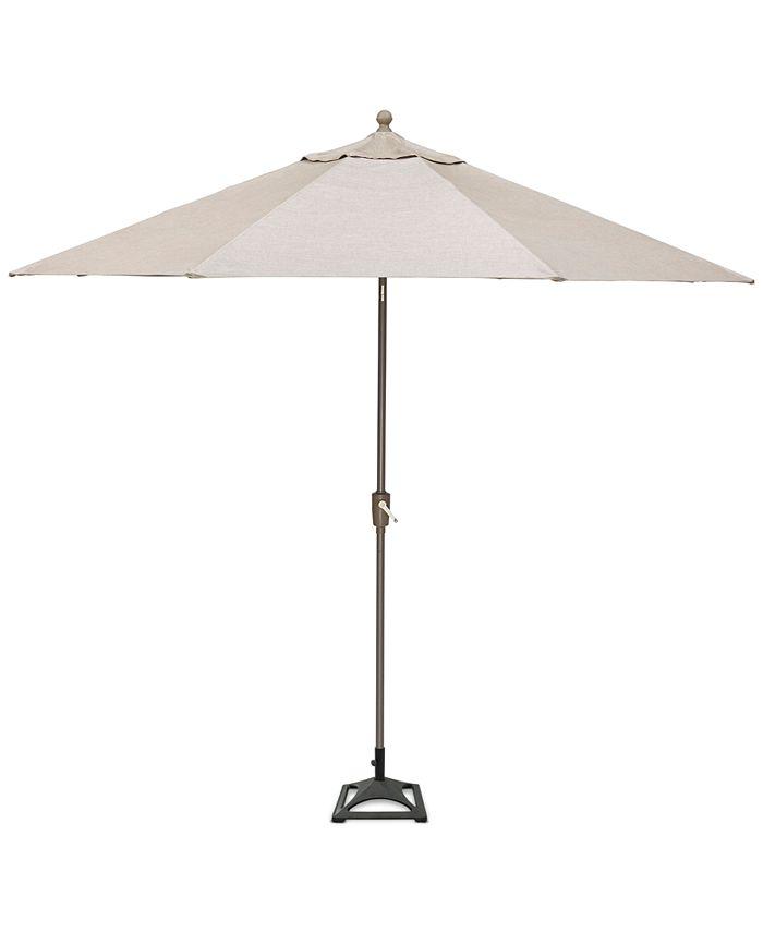 Furniture - Wayland Outdoor 9' Auto-Tilt Umbrella and Base