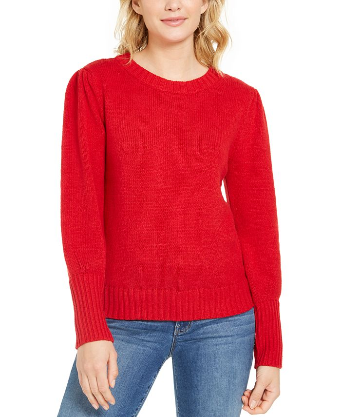 Style & Co - Puffy-Sleeve Sweater