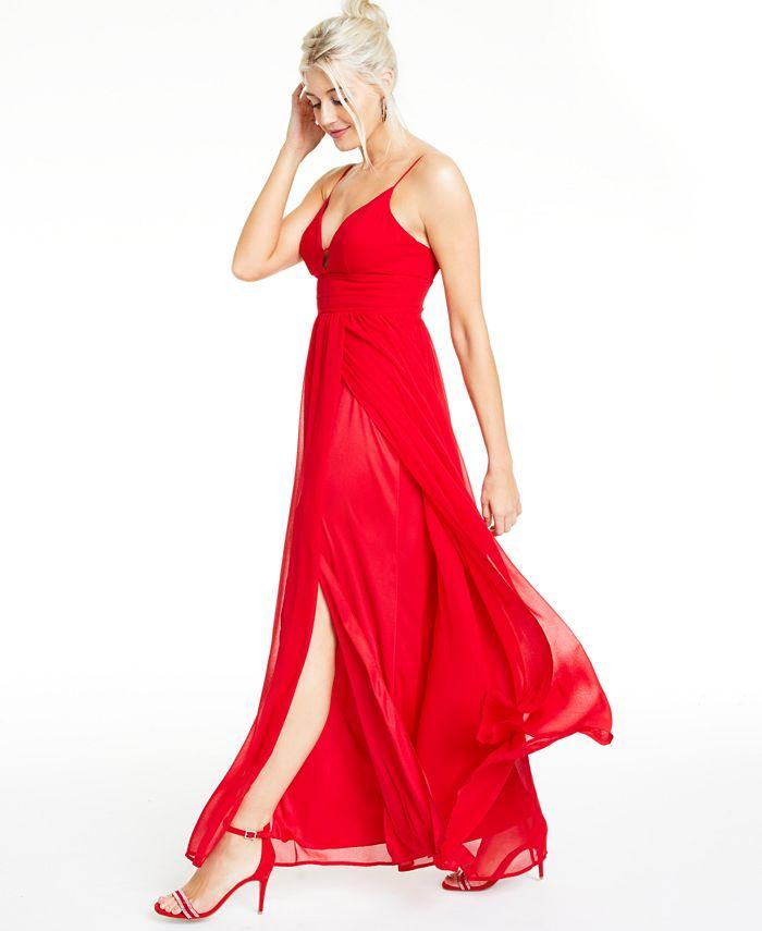 City Studios - Juniors' Chiffon A-Line Gown
