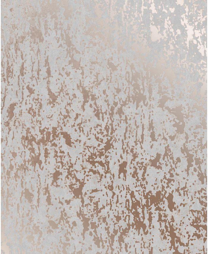 Graham & Brown - Milan Texture Rose Gold and Grey Wallpaper