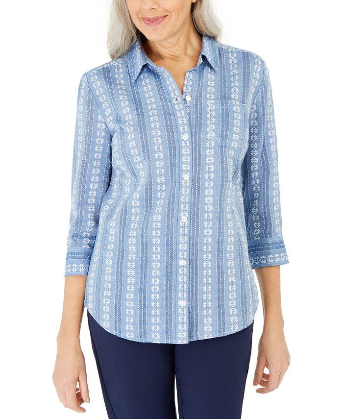 Karen Scott - Cotton Printed Shirt