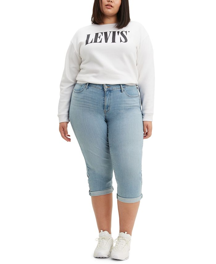 Levi's - Trendy Plus Size Shaping Capri Jeans