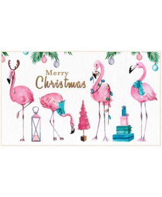 Merry Flamingos Accent Rug, 24