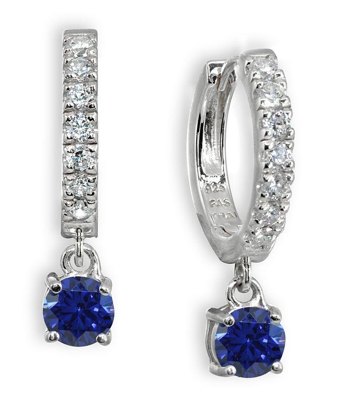 Giani Bernini - Color Cubic Zirconia Dangle Drop Huggie Hoop Earring in Sterling Silver