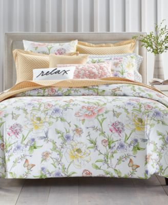 Blossom Cotton 300-Thread Count European Sham, Created for Macy's