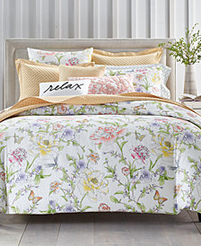 Charter Club Damask Designs Blossom Cotton 300-Thread Count 2-Pc. Twin Duvet Cover Set, Created for Macy's
