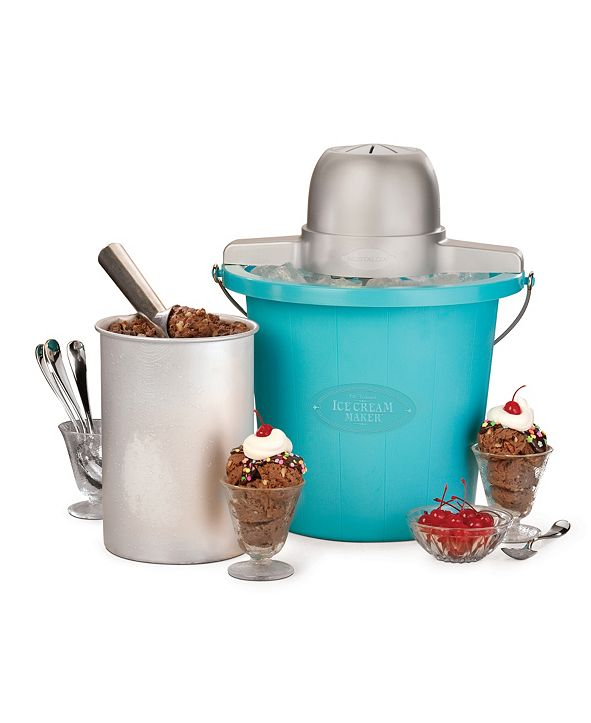 Nostalgia 4 Qt. Electric Ice Cream Maker PICM4BG