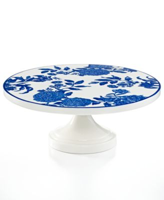 Martha Stewart Collection Orleans Cobalt Cake Stand