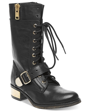 Steve Madden Womens Boots Lollly Combat Boots Womens Shoes