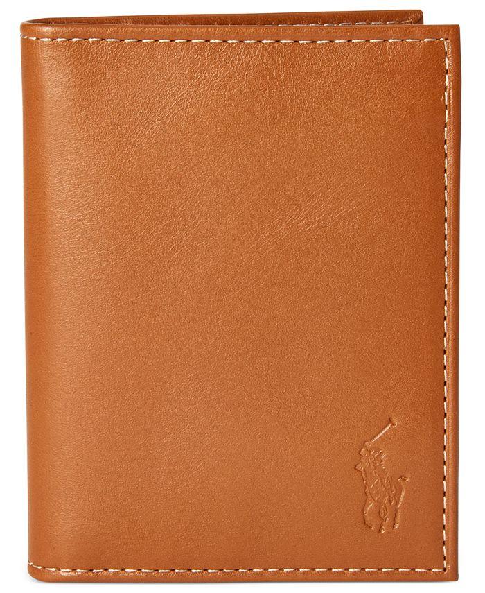 Polo Ralph Lauren - Men's Burnished Leather Window Billfold Wallet