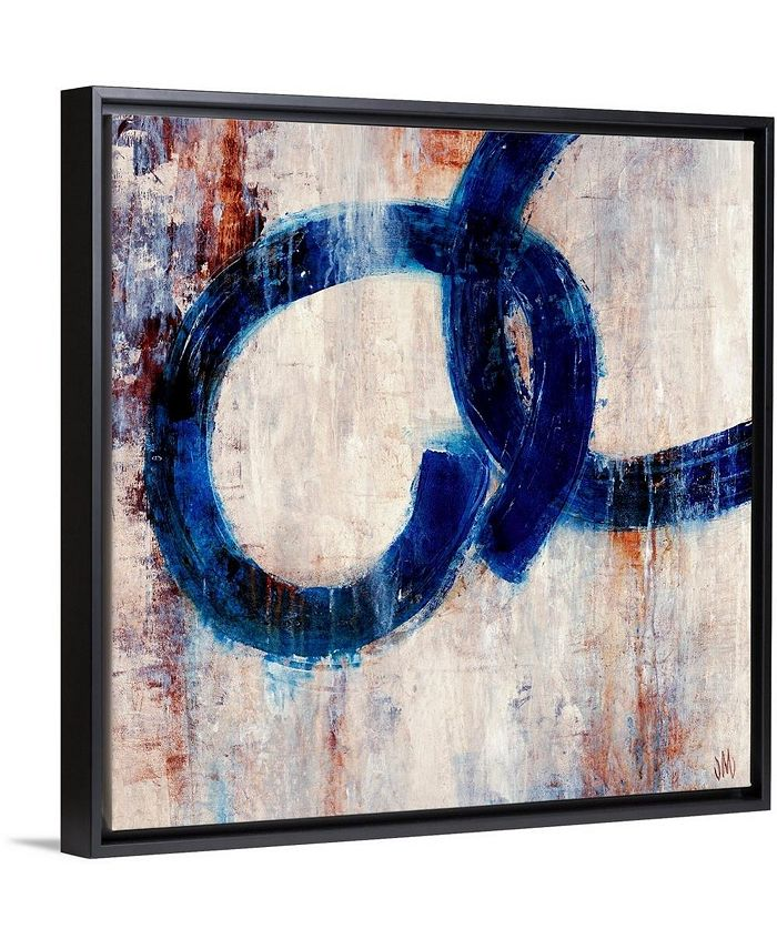 "GreatBigCanvas - 24 in. x 24 in. ""Lapis Rings I"" by  Jodi Maas Canvas Wall Art"