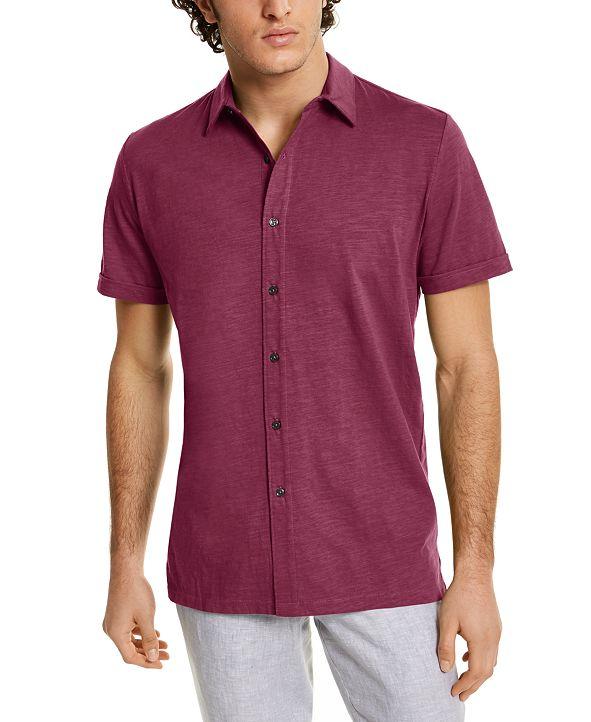 Tasso Elba Men's Textured Shirt, Created for Macy's