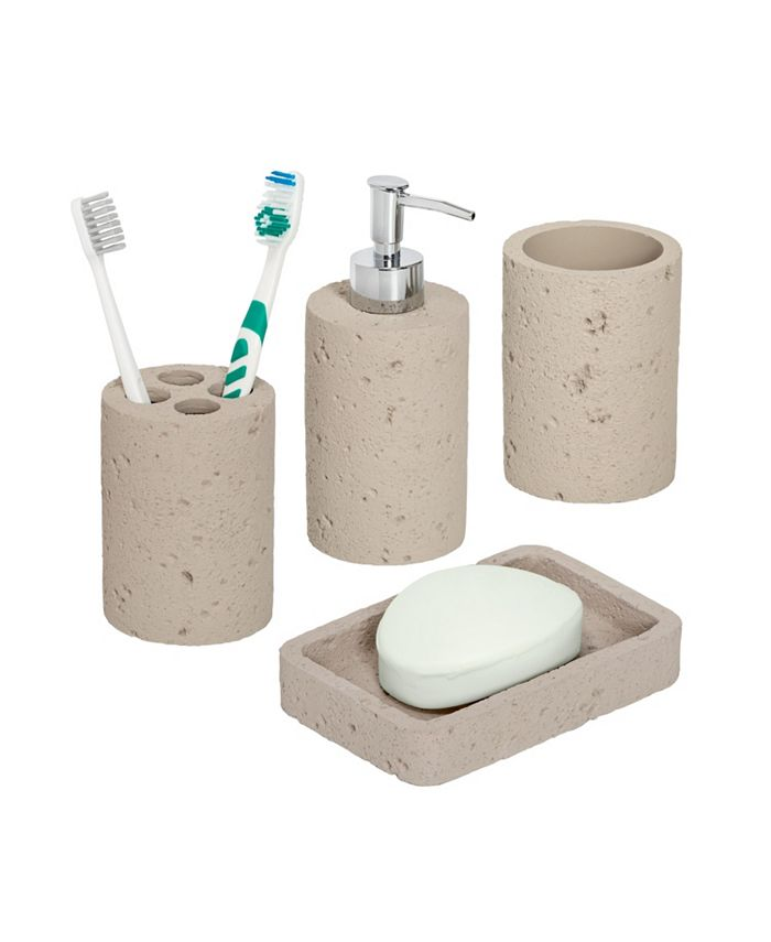Honey Can Do Natural 4 Pc Bathroom Accessories Set Reviews Cleaning Organization Home Macy S