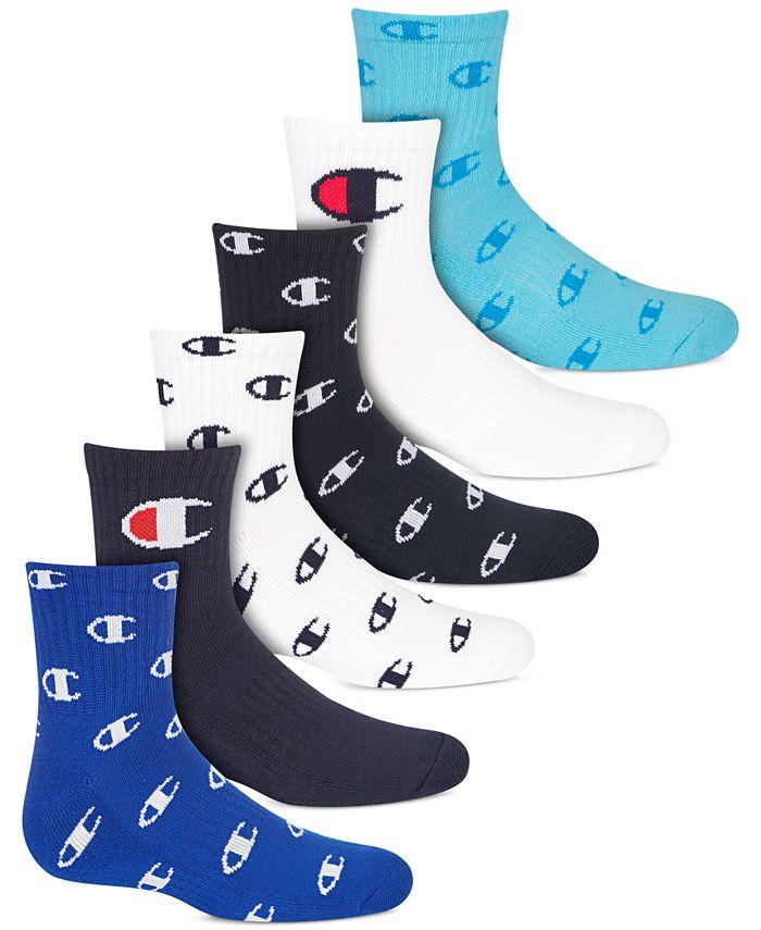 Champion - Little & Big Boys 6-Pk. Logo Low-Cut Socks