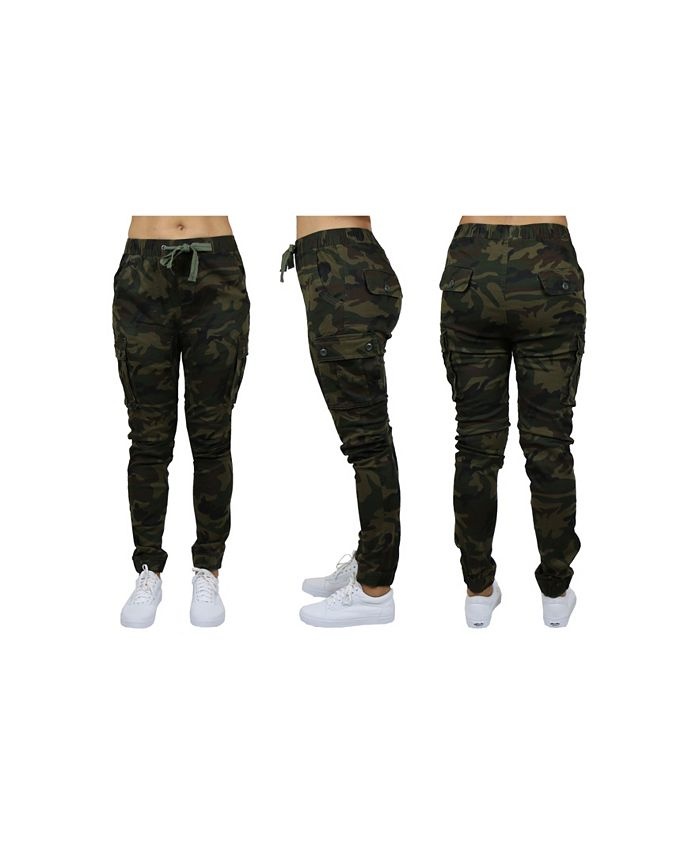 Galaxy By Harvic - Women's Cotton Stretch Twil Cargo Joggers