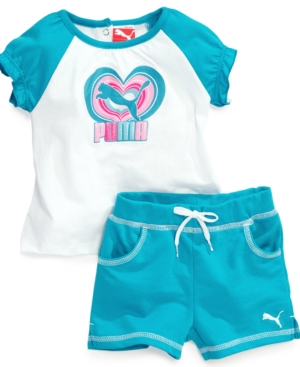 Puma Baby Set Baby Girls 2Piece Shirt and Shorts