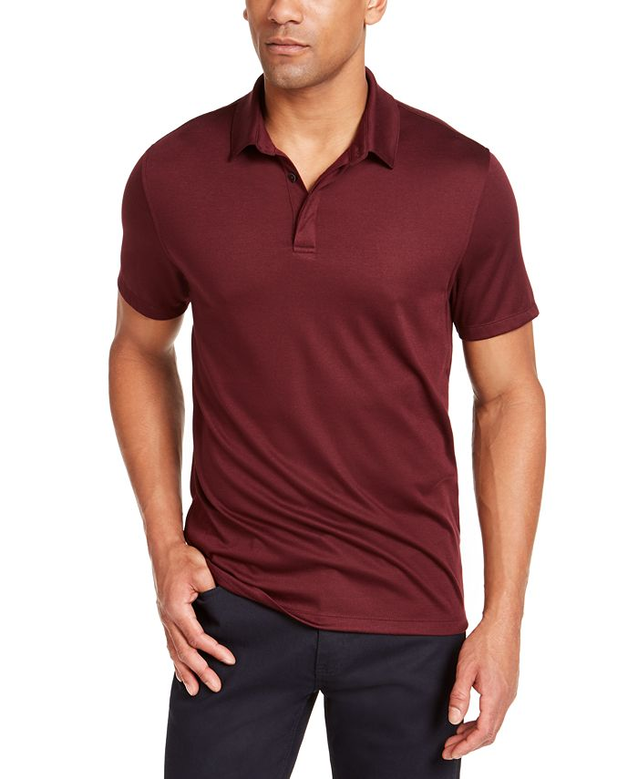 Alfani - Men's AlfaTech Stretch Solid Polo Shirt