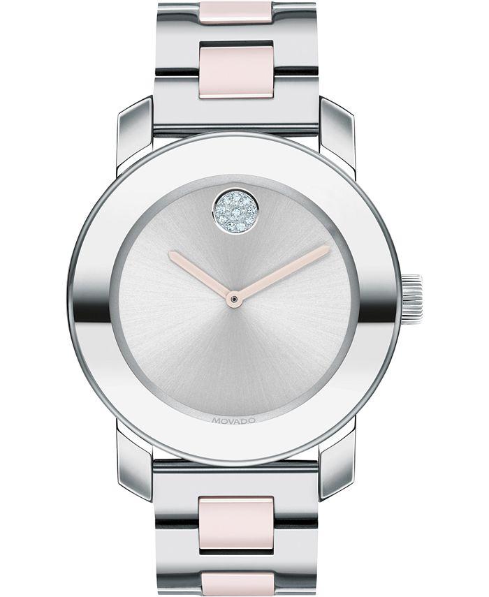 Movado - Women's Swiss BOLD Two-Tone Stainless Steel Bracelet Watch 36mm