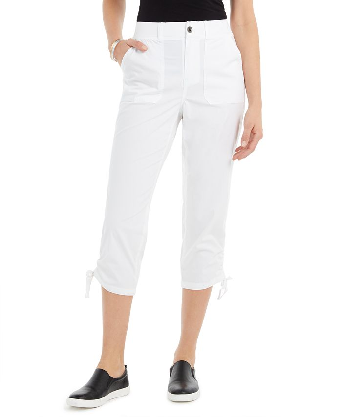 Style & Co - Tie-Hem Capri Pants