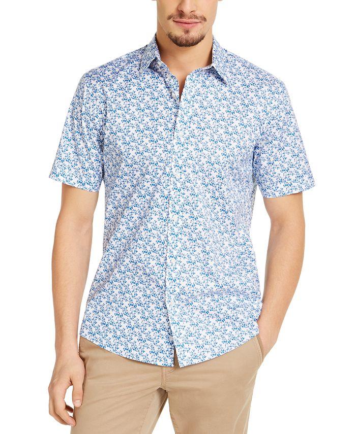 Michael Kors - Men's Slim-Fit Stretch Tropical Print Shirt