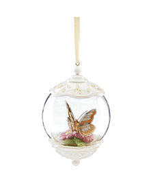 Lenox Butterfly Meadow Gold - 20th Anniversary Globe Ornament, Macy's Exclusive