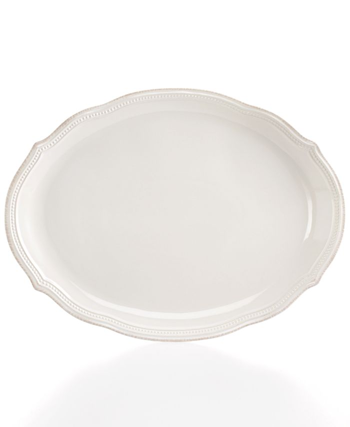 Lenox - French Pearl Bead White Oval Platter