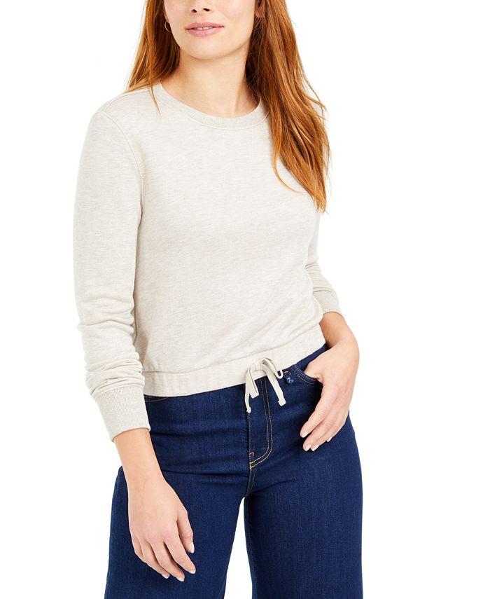 Bar III - Tie-Front Sweatshirt