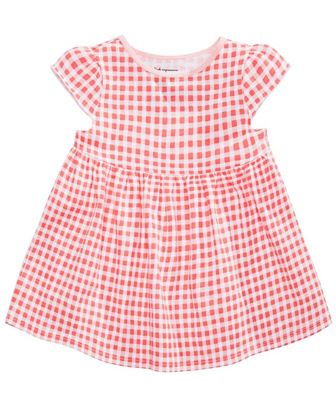 First Impressions Baby Girls Gingham-Print Cotton Tunic, Created for Macy's