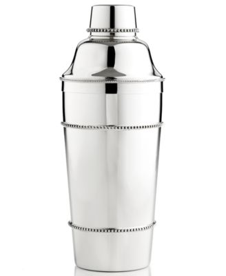 Reed & Barton Barware, Heritage Collection Banded Bead Cocktail Shaker