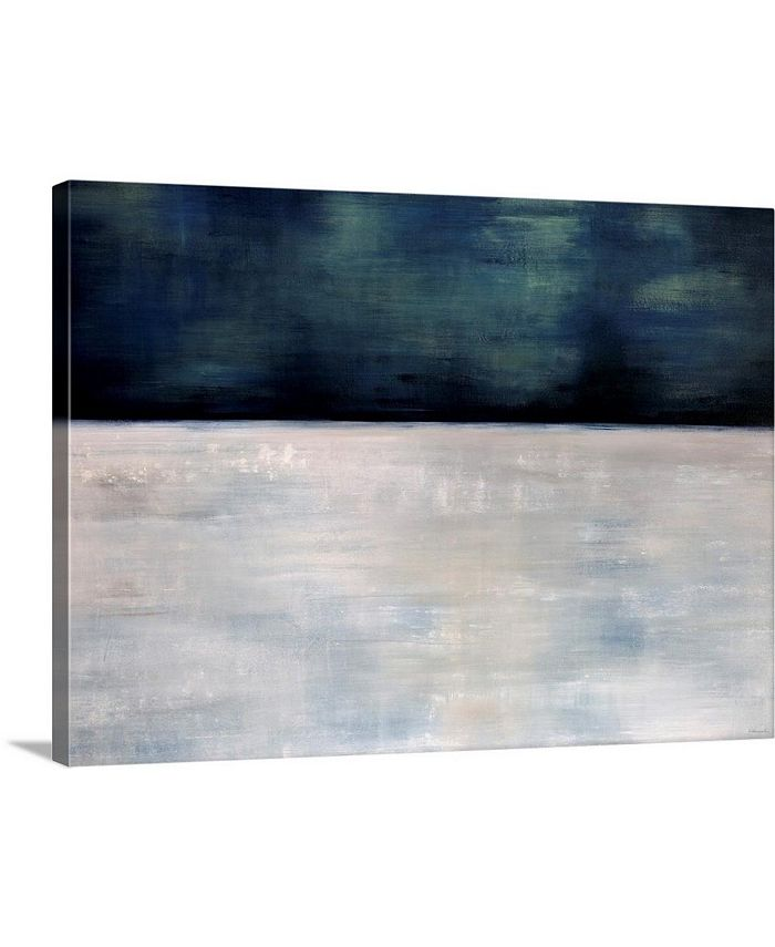 "GreatBigCanvas - 40 in. x 30 in. ""Arctic Night"" by  Sydney Edmunds Canvas Wall Art"