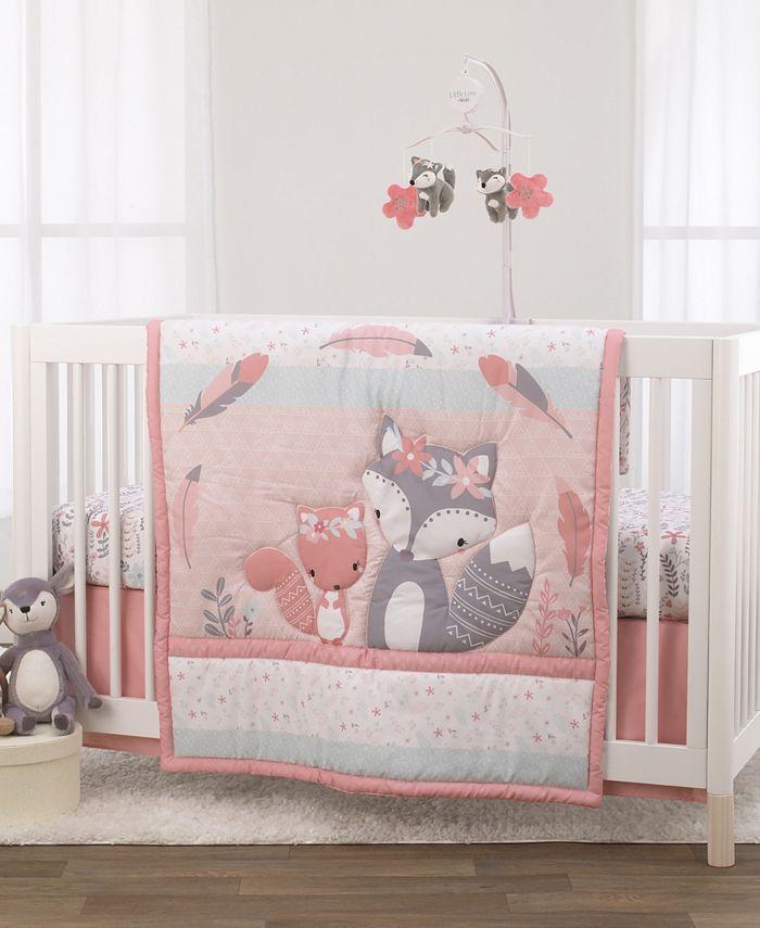 NoJo - Nojo Desert Flower Fox and Feathers 3-Piece Crib Bedding Set