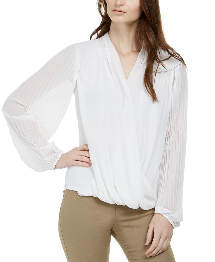 Alfani - Pleated Surplice Top
