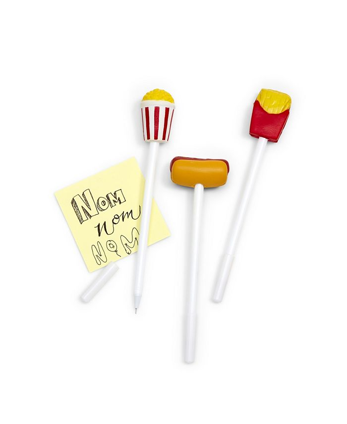 Celebrate Shop - Refill for Fast Food 36 Pc Squeeze Topper Pen Un Includes 3 Designs: Hot Dog, French Fries, Popcorn refillable - Plastic/Foam