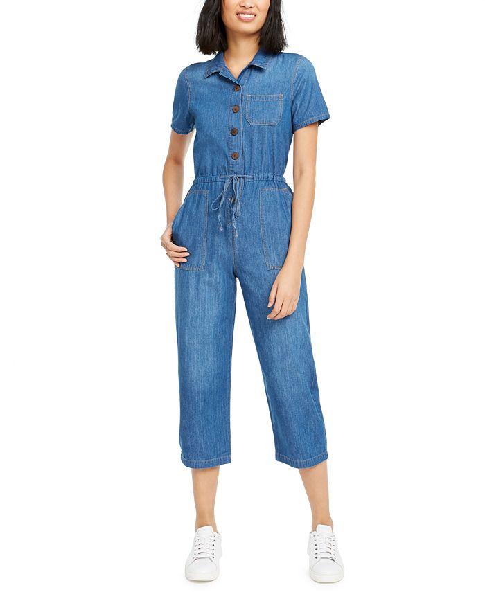 OAT - Cotton Denim Drawstring Jumpsuit