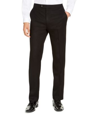 Men's Classic-Fit Stretch Black Tuxedo Pants, Created for Macy's