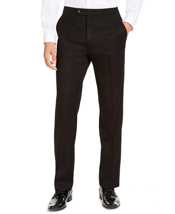 Alfani - Men's Classic-Fit Stretch Black Twill Suit Pants