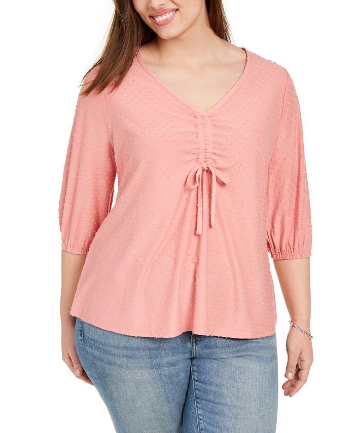 Belldini - Plus Size Blouson-Sleeve Top