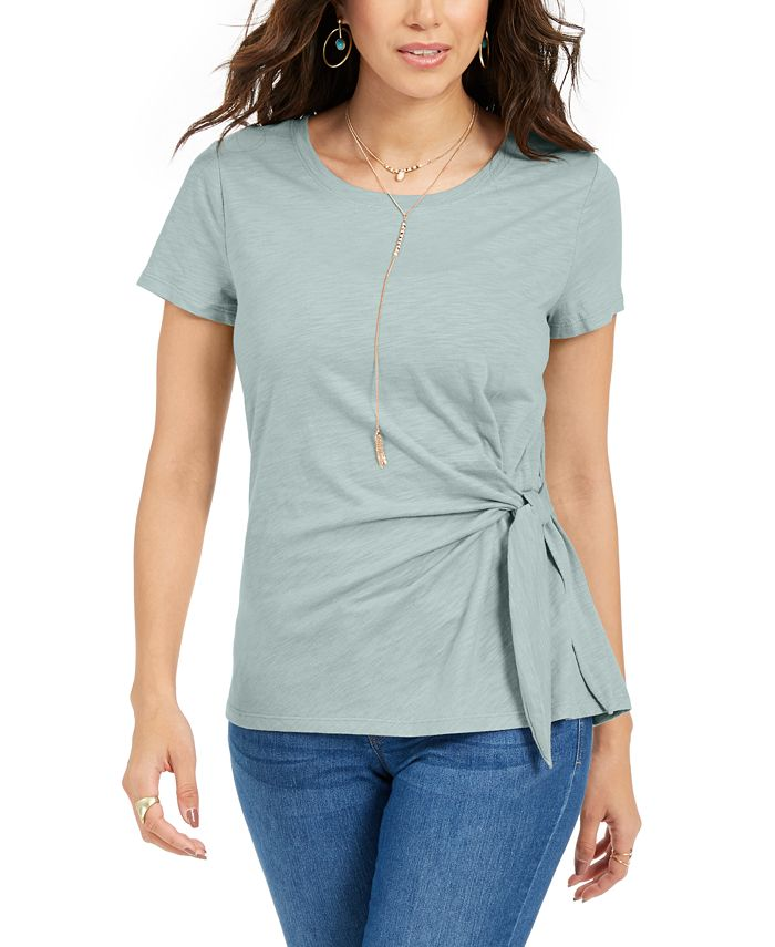 Style & Co - Side-Tie Top