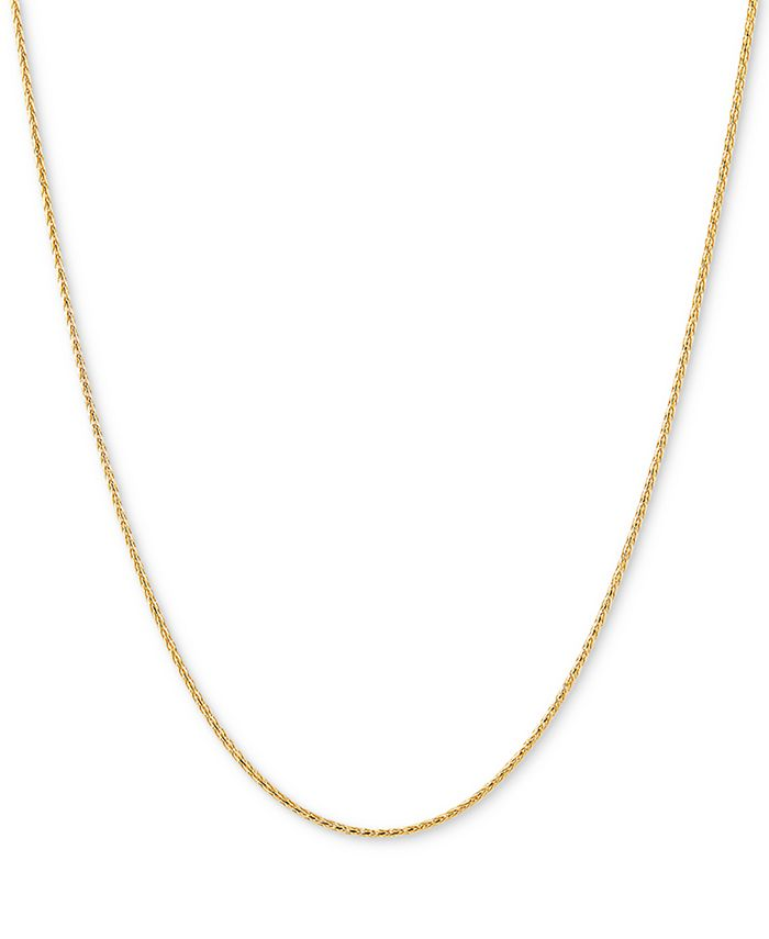"""Italian Gold - Wheat Link 20"""" Chain Necklace in 14k Gold"""