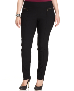 Style & co. Plus Size Zip-Pocket Skinny-Leg Pull-On Pants