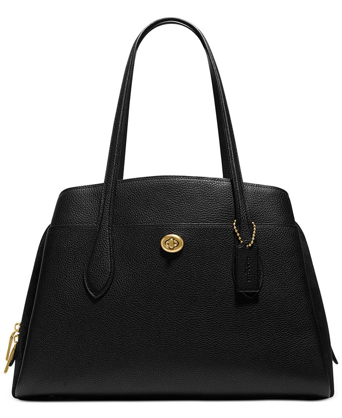 COACH - Polished Pebble Leather Lora Carryall