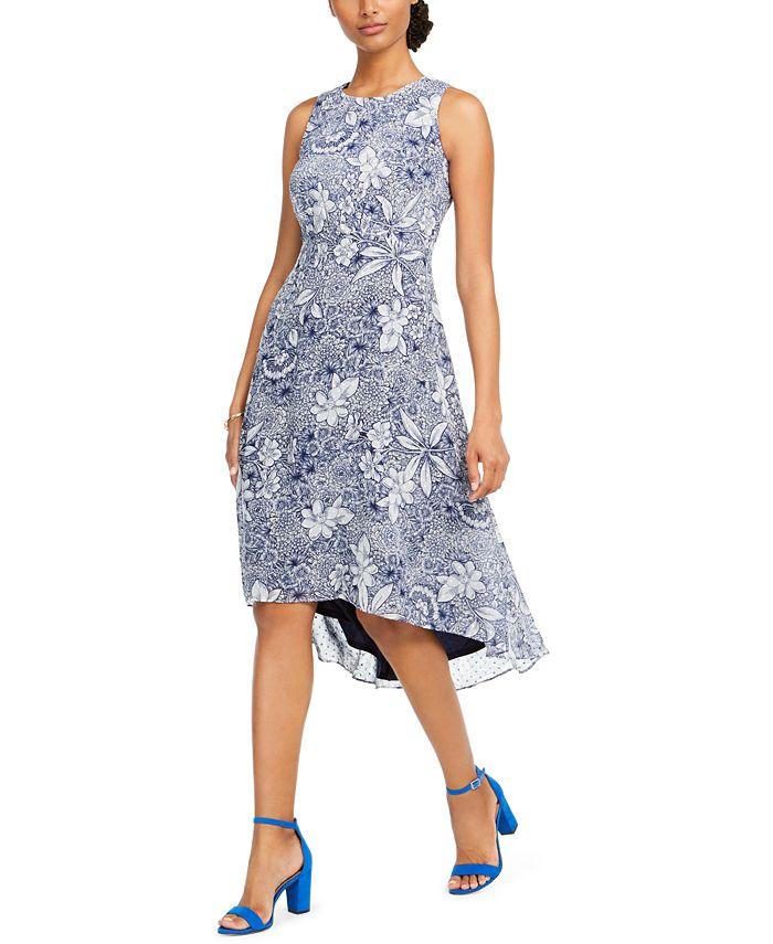Taylor Petite Printed High Low Dress Reviews Dresses Petites Macy S