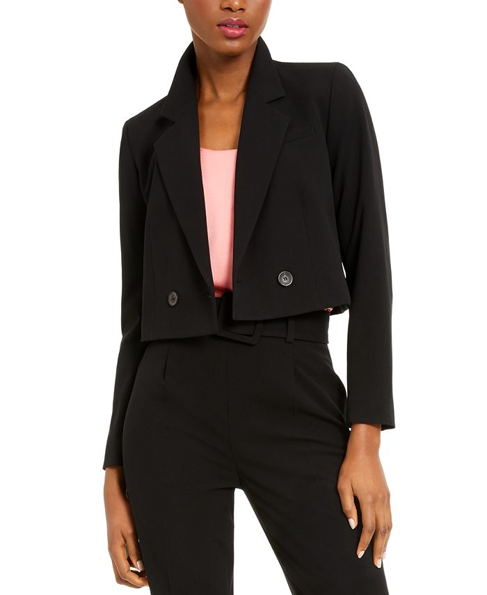 Bar III - Cropped Double-Breasted Jacket