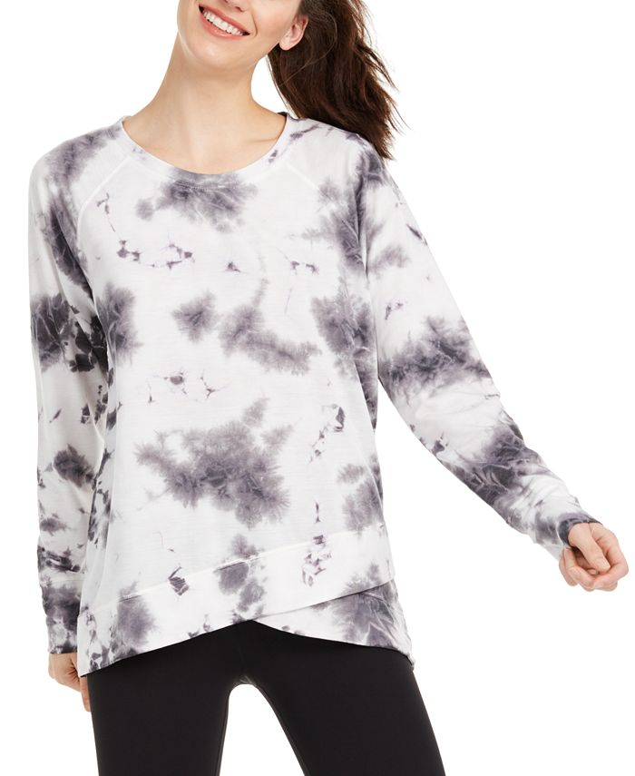 Ideology - Tie-Dyed Crossover Hem Top